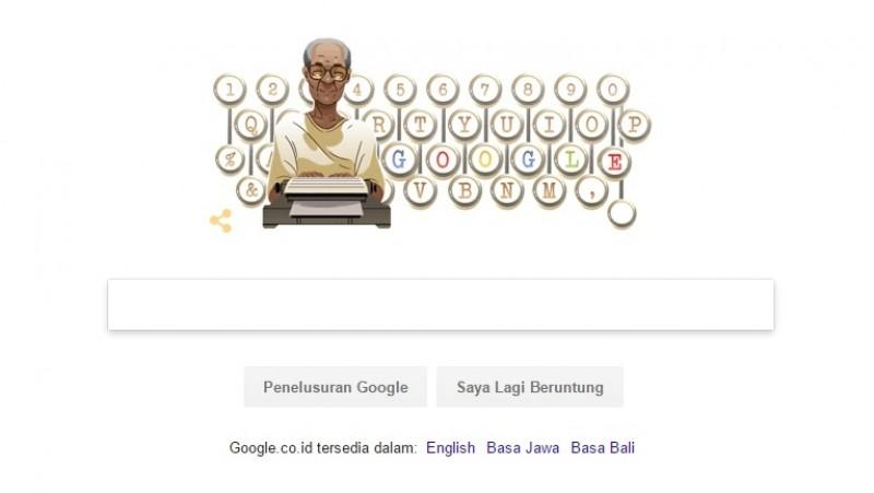 Pramoedya Ananta Toer ada di Google Doodle