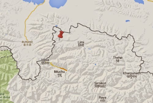 humla earthquake epicenter map