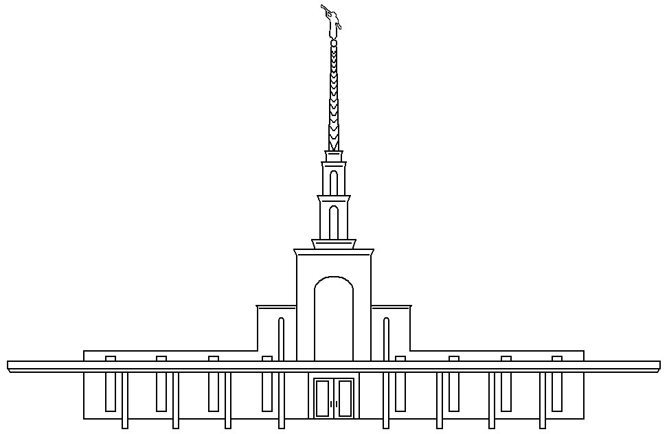 Washington Dc Temple Coloring Page Sketch Coloring Page