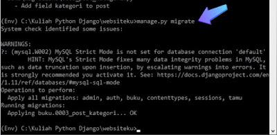 Membuat Relasi Model Django Framework