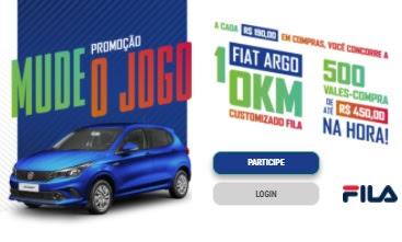 Cadastrar Promoção FILA 2020 Mude o Jogo