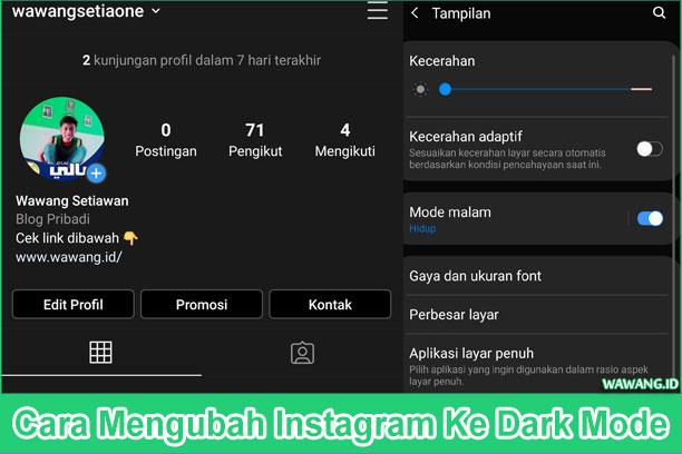 Cara Mengubah Instagram Ke Dark Mode