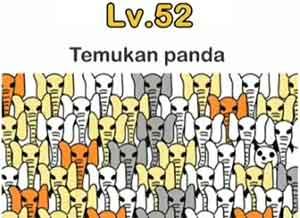 Jawaban temukan panda brain out level 52