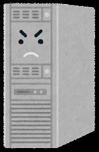 サーバのキャラクターのイラスト(怒った顔・頑張っている顔)