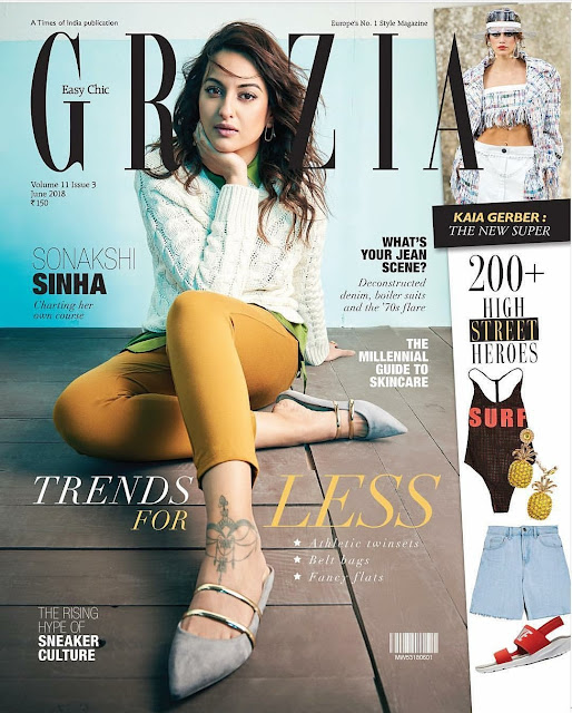 Sonakshi Sinha on the June 2018 Cover of Grazia Magazine