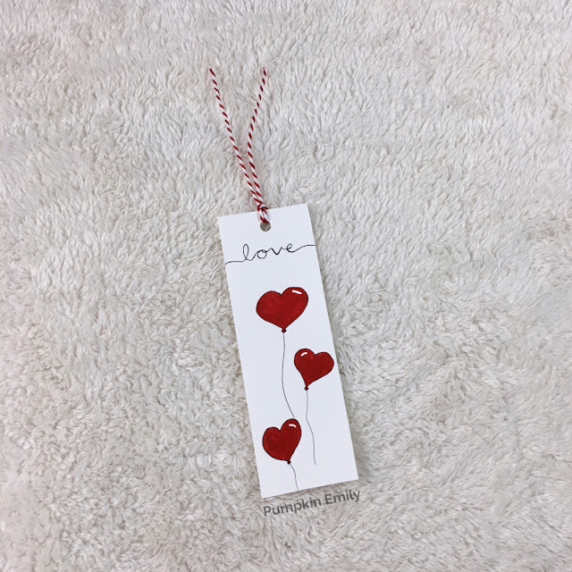 DIY Heart Balloon Bookmark