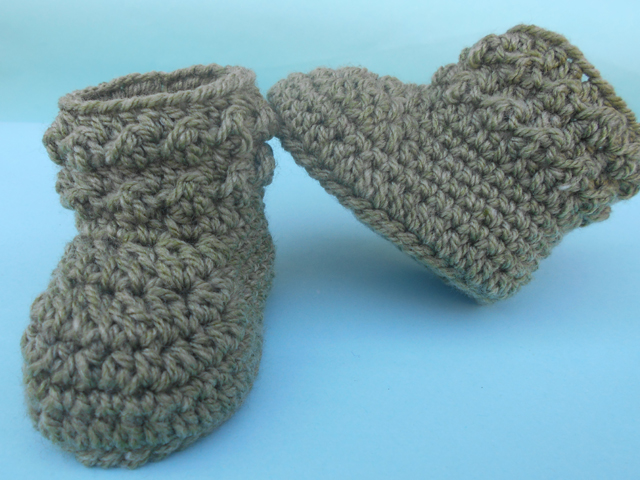 ... Free Patttern Urdu, Hindi Video Tutorials: Crochet Booties Pattern