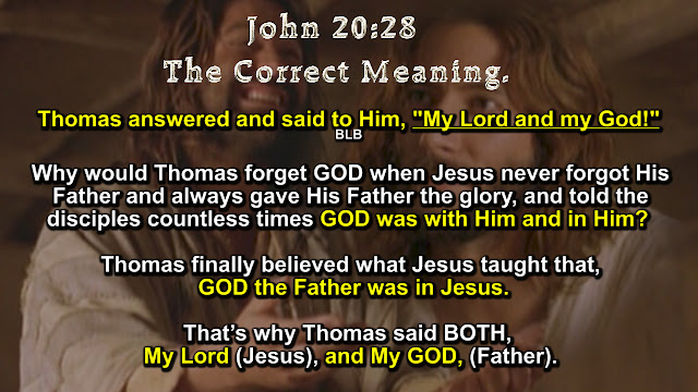 John 20:28 The Correct Meaning.