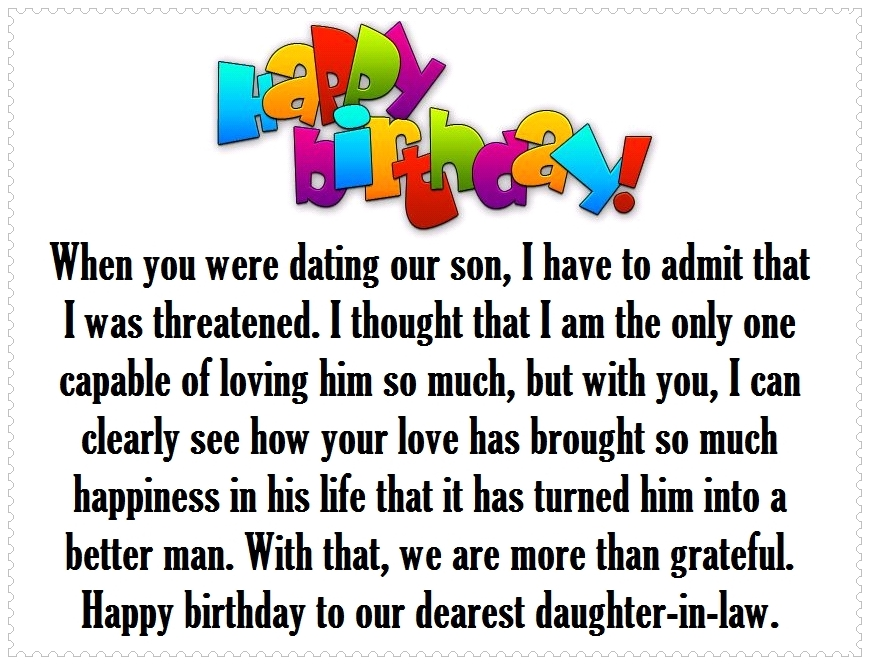 Daughter-in-Law Happy Birthday Quotes and Greetings | Happy ...