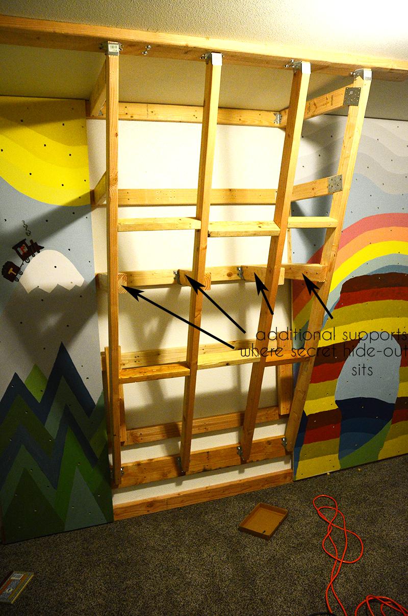 inside climbing wall design plans
