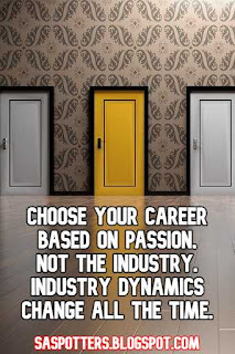 Choose your career based on passion, not the industry. Industry dynamics change all the time.