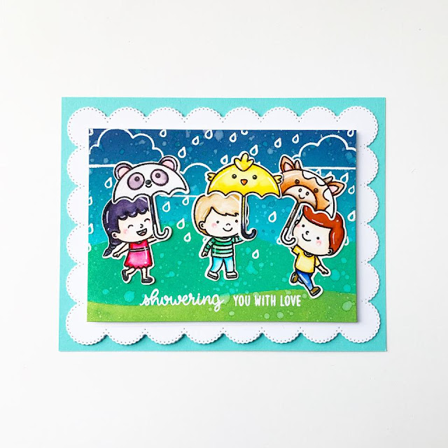 Sunny Studio Stamps: Spring Showers Frilly Frame Dies Spring Themed Cards by Jane