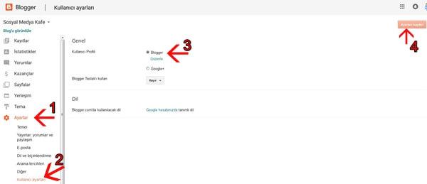 Google Plus Profilinden Blogger Profiline Geçme