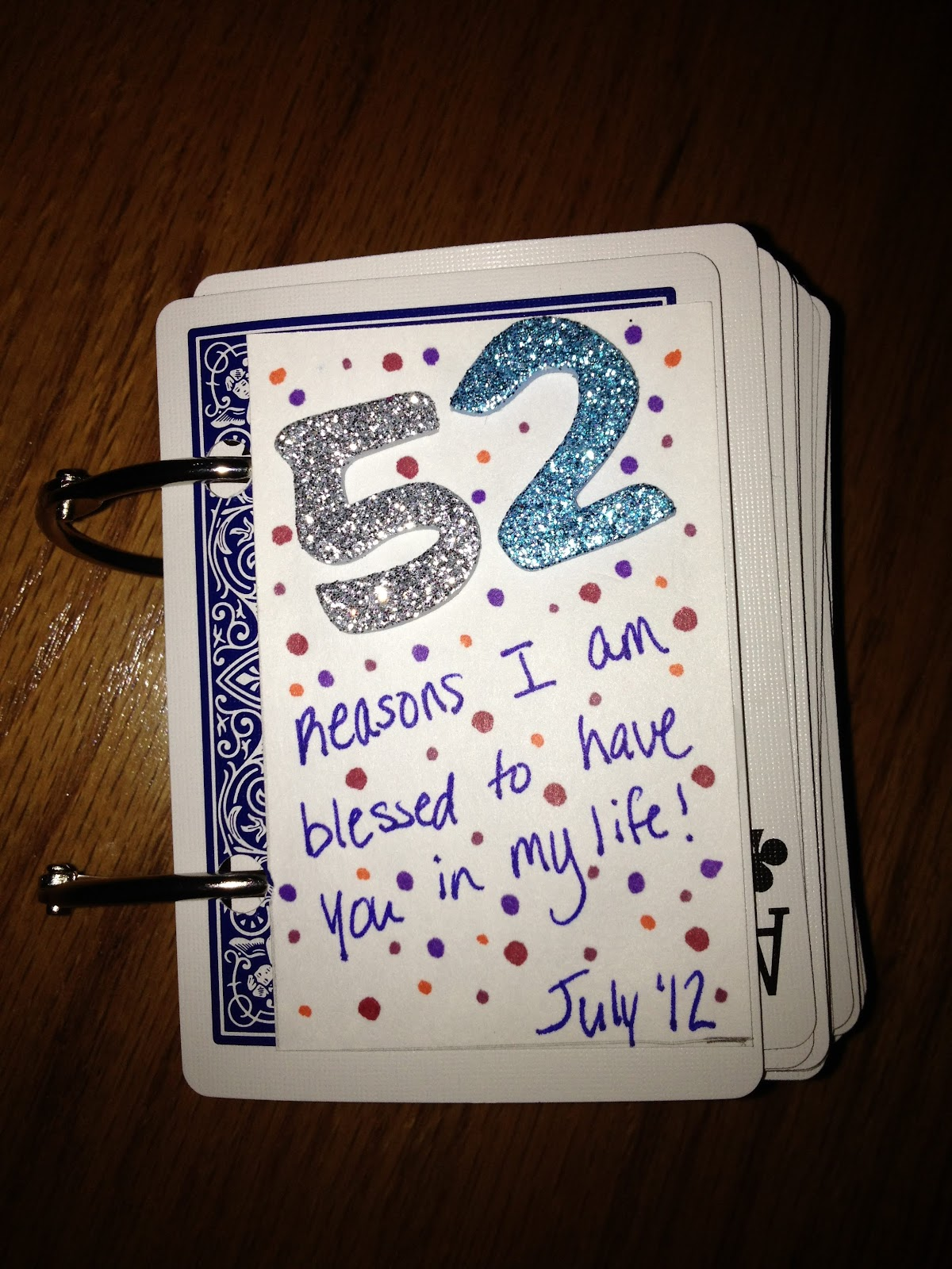 """Cramming For Life: """"52 Reasons"""" Deck Of Cards Book For"""