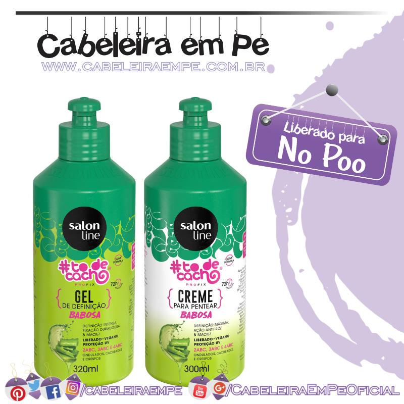 Creme para Pentear e Gel #todecacho Babosa - Salon Line (No Poo)