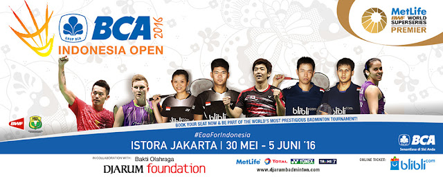 BCA Indonesia Open Super Series Premier 2016