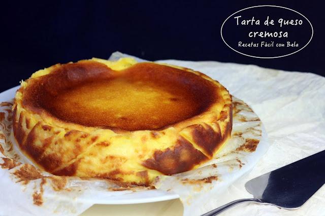 Tarta de queso crema cremoso y jugoso