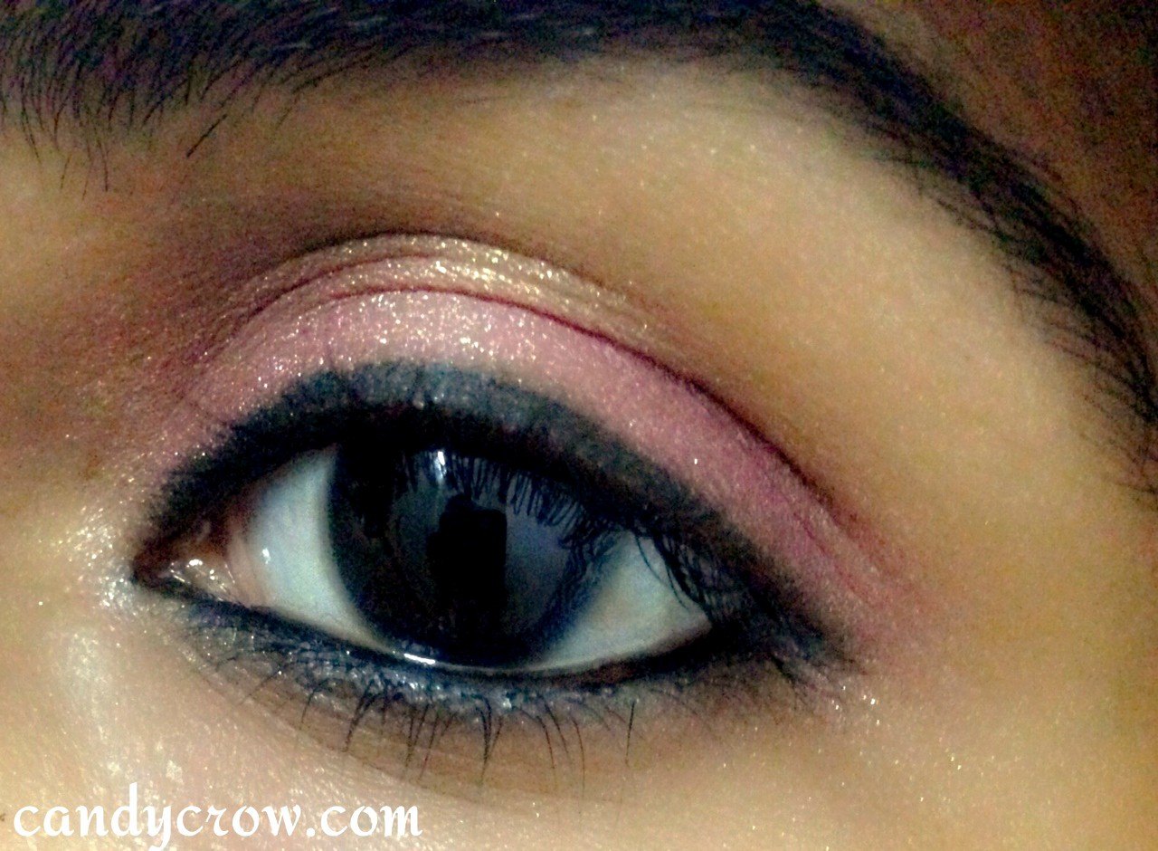 5 Minute eye makeup Tutoria, pink gold eye make up tutorial
