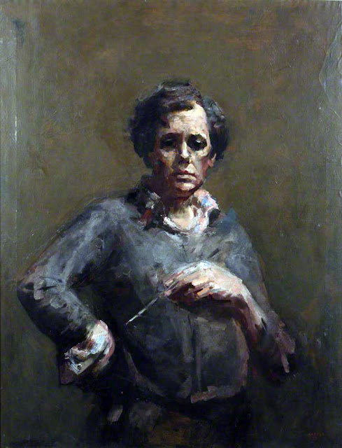 John Napper, Self Portrait, Portraits of Painters, Fine arts, Portraits of painters blog, Paintings of John Napper, Painter John Napper