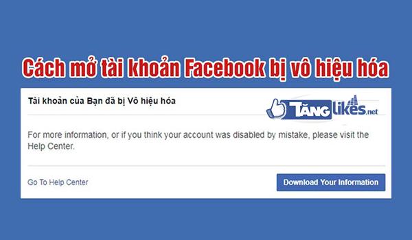 khoi phuc tai khoan facebook bi vo hieu hoa