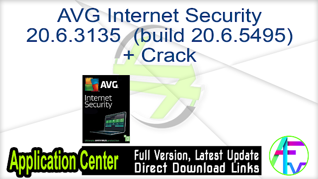 AVG Internet Security 20.6.3135 (build 20.6.5495.561) + Crack