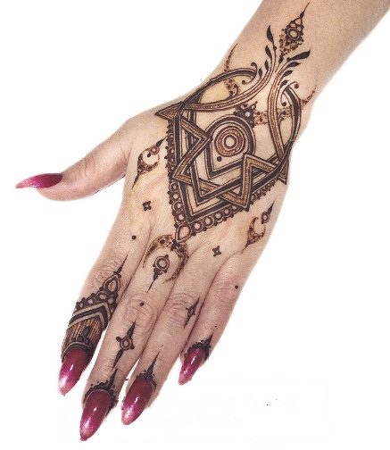 Beautiful Mehndi Design for Sari Dress