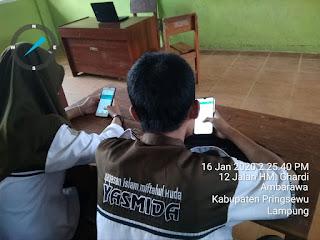 USBN SMK Yasmida Ambarawa Sudah Menggunakan Andoid - Android Bast Test (ABT)