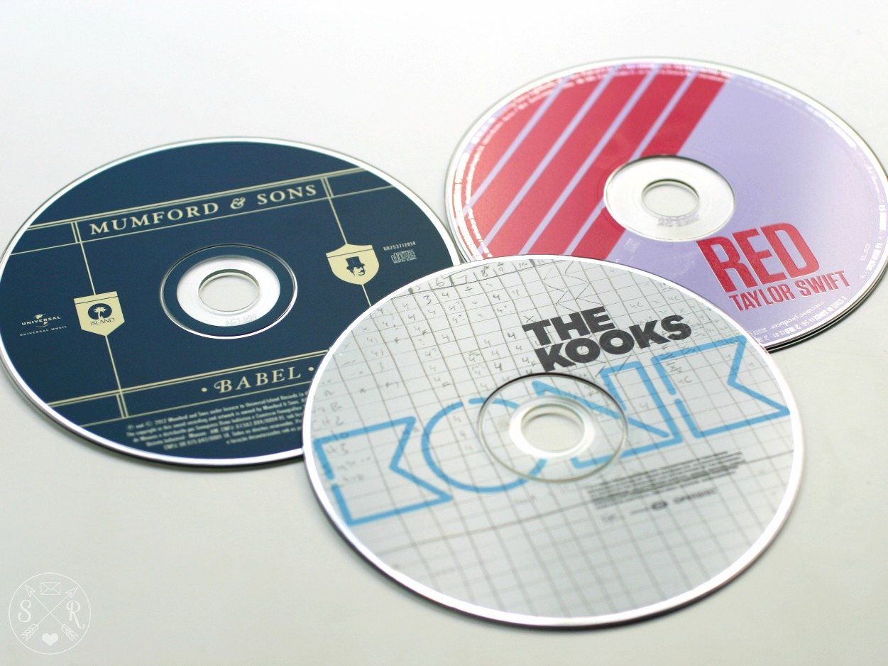 CDs Mumford & Sons, The Kooks, Taylor Swift