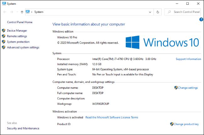 لوحة تحكم النظام الكلاسيكية ، المخفية الآن على نظام التشغيل Windows 10