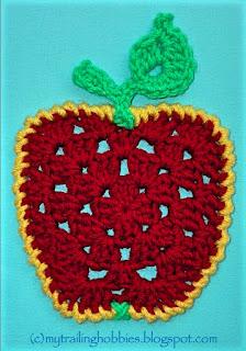 crochet granny apple pattern - (c) bohemian flower @mytrailinghobbies