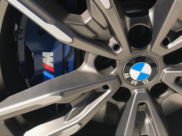 M brake caliper on 2020 BMW M340i