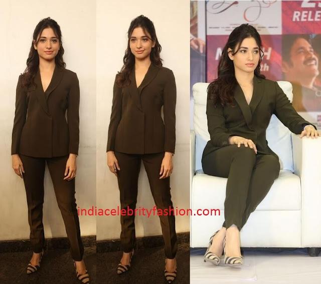 Tamannaah Bhatia in Blazer and pants Suit