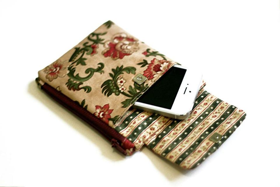 How to Sew a Pouch - Organizer for your phone. Photo Sewing Tutorial