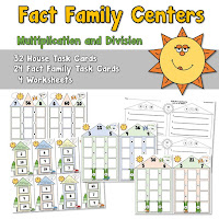 Fact Family Centers for Multiplication and DIvision