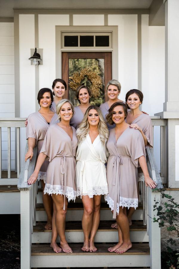 Plum Pretty Sugar Bridesmaid Robes And