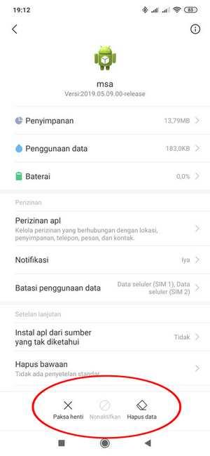 Detail msa di Xiaomi