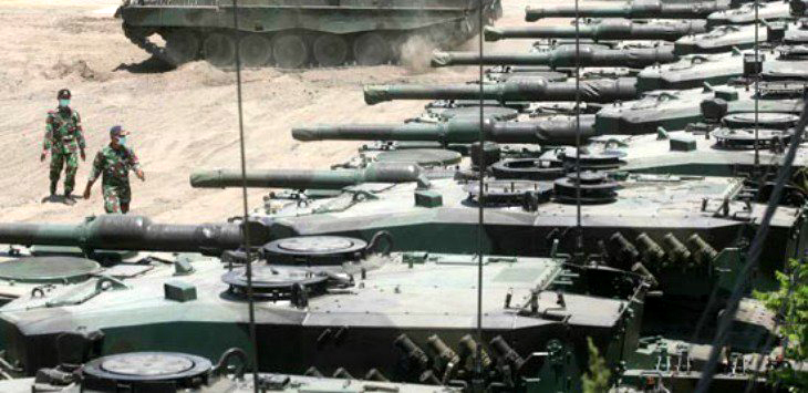 Tank Leopard milik TNI Angkatan Darat