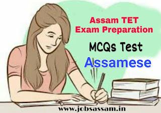 Assam TET Assamese Language MCQs for Assam TET Exam 2019
