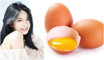 làm trắng da từ trứng gà