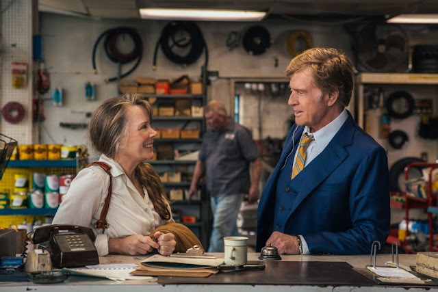 "Sissy Spacek and Robert Redford in ""The Old Man & the Gun"""