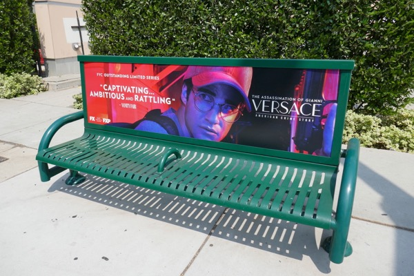 Assassination Versace Darren Criss Emmy bench ad