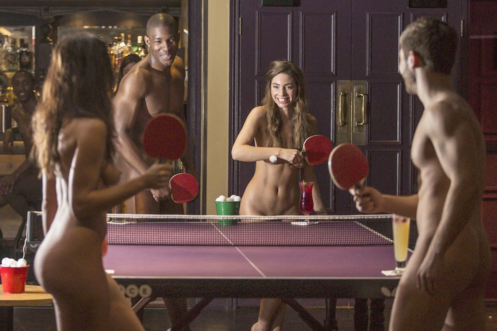 Exclusive: World's First N'aked Table Tennis Tournament Held In London