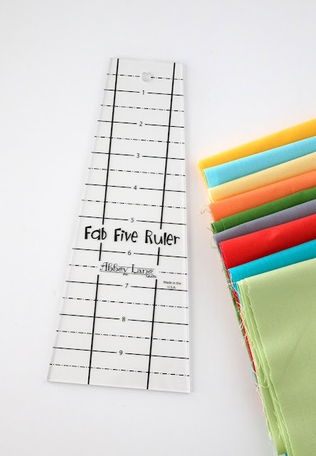 Fab Five Ruler - a fun quilting ruler with a unique shape