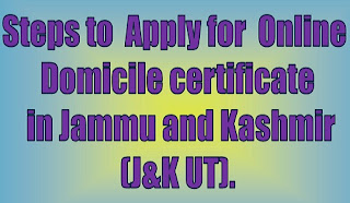 Steps to apply for online j&K domicile certificate