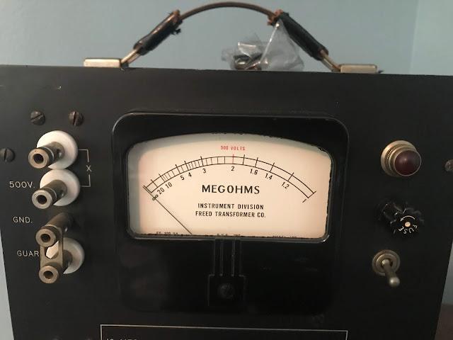 Freed MEGOHMMETER Test equipment.