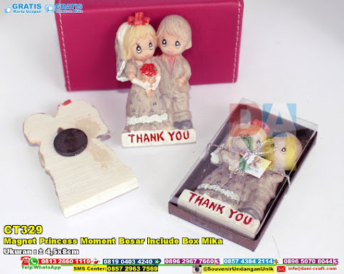 Magnet Princess Moment Besar Include Box Mika