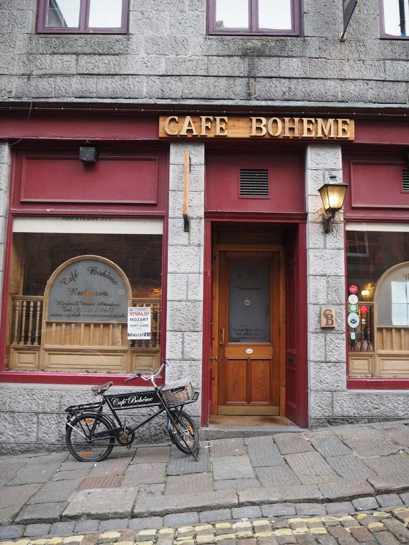 Cafe Boheme exterior and bike