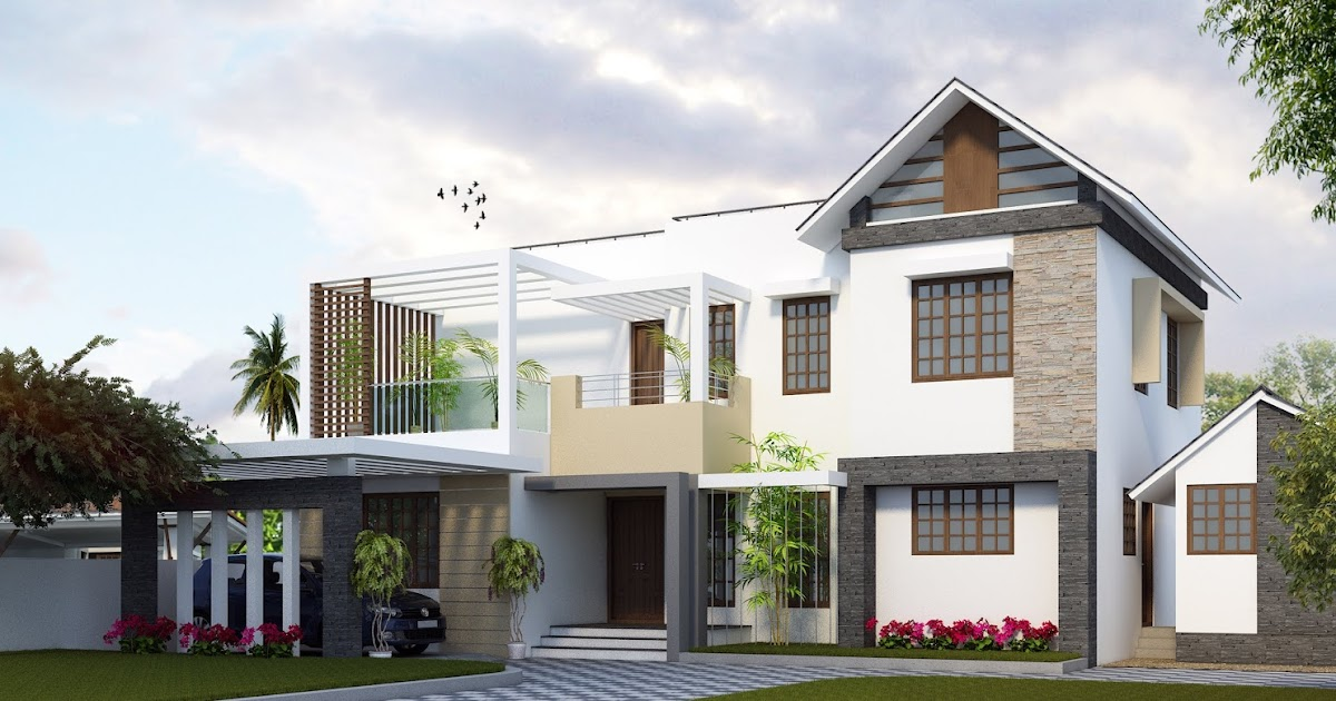 New Home Designs Latest Beautiful Latest Modern Home: Contemporary Kerala Home Design New Modern Houses Mix Style