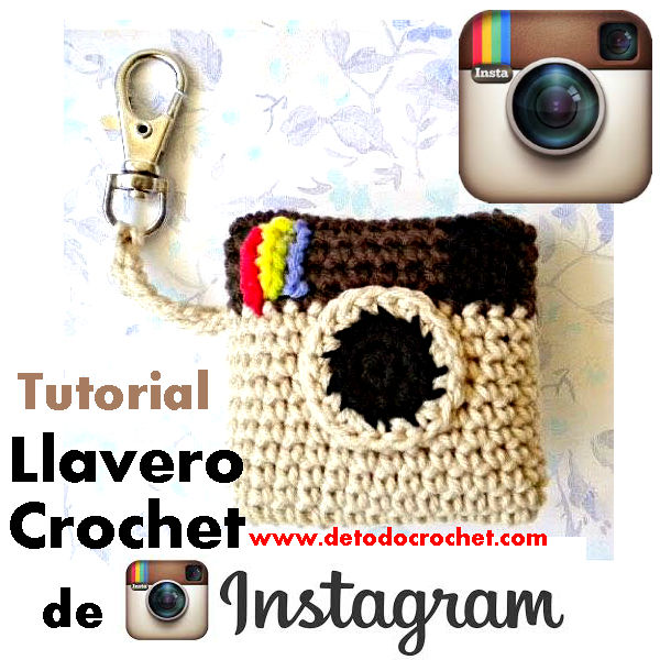 tutorial video crochet de llavero instagram logo clásico