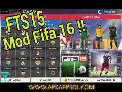 Download FTS 15 Mod FIFA 16 v1 by Hadi Suhendra Apk + Data